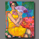 Woman with Fan - 30x24